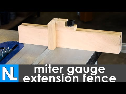How to make a miter gauge extension fence   woodworking in the garage
