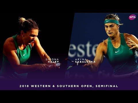 Simona Halep vs. Aryna Sabalenka | 2018 Western & Southern Open Semifinal | WTA Highlights