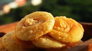 Pathir pheni, Chiroti, Padhir peni - Crispy layered sweet poori-Diwali