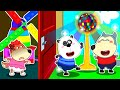 Lycan in Arabic 🌟 Lycan Plays with Rainbow Disco Ball without Ruby   Lycan's Funny Stories For Kids