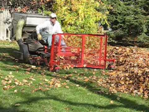 Leaf Plow Homemade John Brackett Amp Co Landscape Youtube