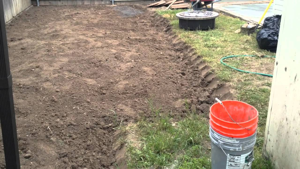 Time lapse video of backyard being renovated (concrete ... on Backyard Ideas Concrete And Grass id=27646