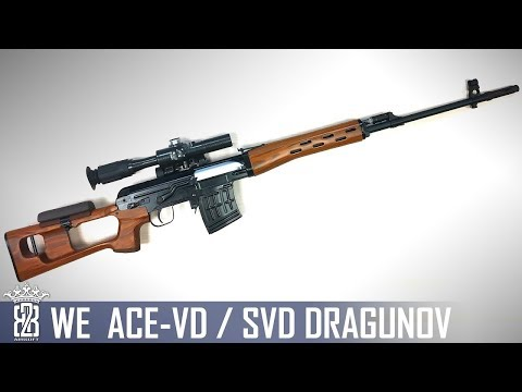 *Airsoft Review *  WE SVD ACE VD DRAGUNOV SNIPER | English Subtitles - Deutsch