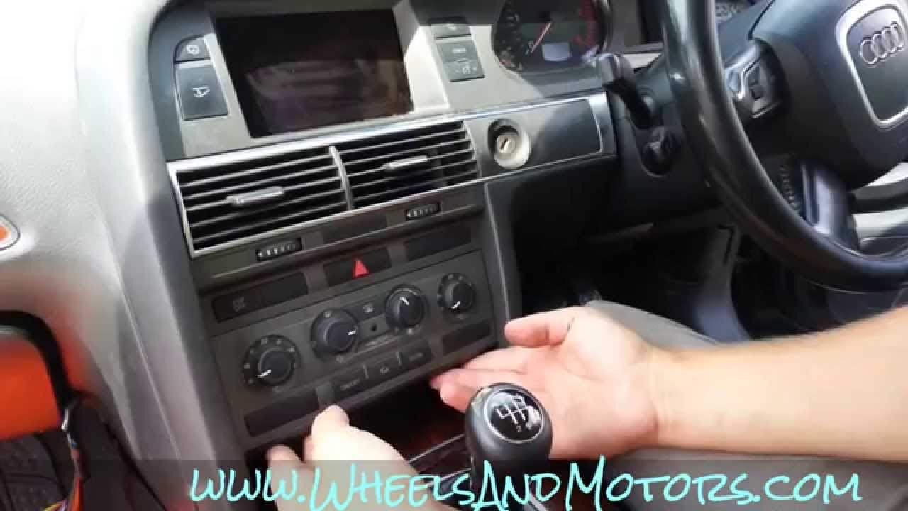 how to remove climatronic ac and climate control buttons on audi rh youtube com Audi A4 Audi A4