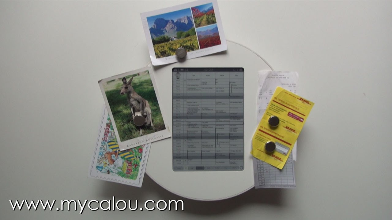 CALOU - A Digital Wall Calendar - A Digital Family Calendar