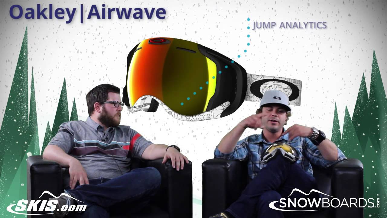 b30a8af0b80b0 2017 Oakley Airwave Goggle Overview by SkisDOTcom and SnowboardsDOTcom -  YouTube