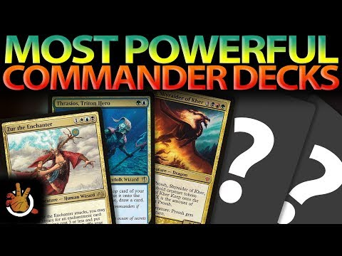 The Most Powerful Commander Decks | The Command Zone #187 | Magic: the Gathering EDH Podcast