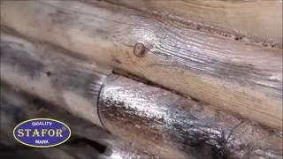 видео Почернения на срубе