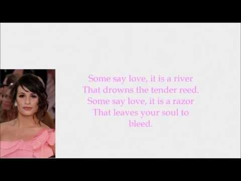 Glee - The Rose (Lyrics)