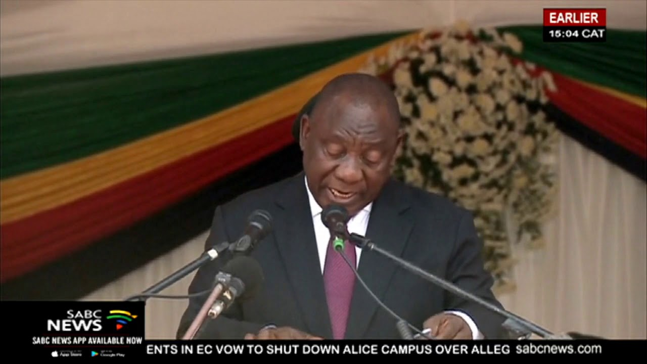 Ramaphosa apologises for violence aimed at foreign nationals, hails Mugabe