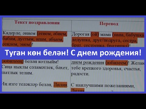 Поздравления на татарском для дедушки