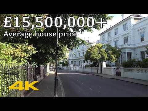 Britain's 4th Most Expensive Street: The Boltons, London SW10【4K】