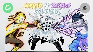Dibujando a Naruto y Sasuke VS Madara | Drawing Naruto and Sasuke VS Madara | NS
