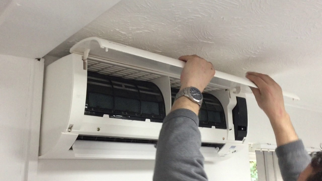 Changing A Daikin Ac Front Panel Ftx Series Youtube