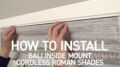 How to Install Bali® Cordless Roman Shades - Inside Mount
