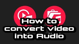 How to Convert Video into Audio | Video To MP3 Converter || Qaisar Hami || screenshot 3