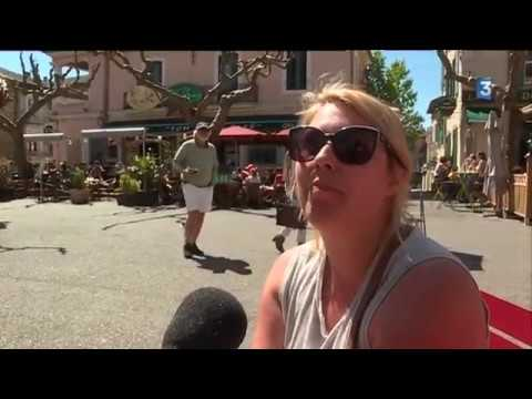 Premiers touristes à Vallon Pont d'arc