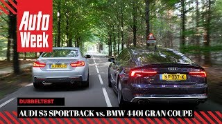 Audi S5 Sportback vs. BMW 440i Gran Coupe - Dubbeltest - English subtitles