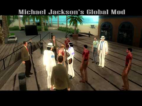 GTA San Andreas Michael Jackson's Global Mod Концерт на публике