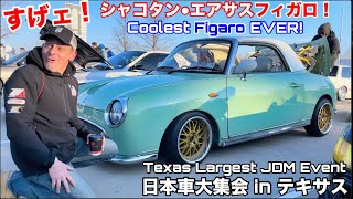 The COOLEST Figaro I've Ever Seen!! 1 of 1000 INCREDIBLE JDM Rides at Steve's POV Meet in Texas!