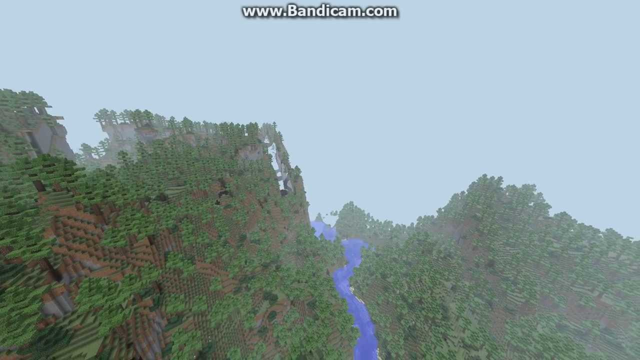 Minecraft Custom Terrain: Wedge with Biomes O' Plenty and Optifine