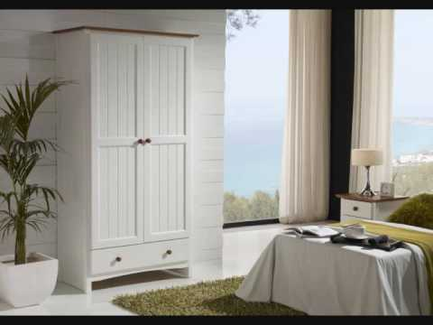 37-muebles de pino acabado blanco.wmv - YouTube