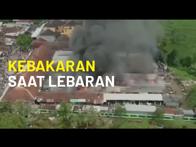 Pasar Kalimas, Kabupaten Pemalang Kebakaran di Hari Raya Idulfitri