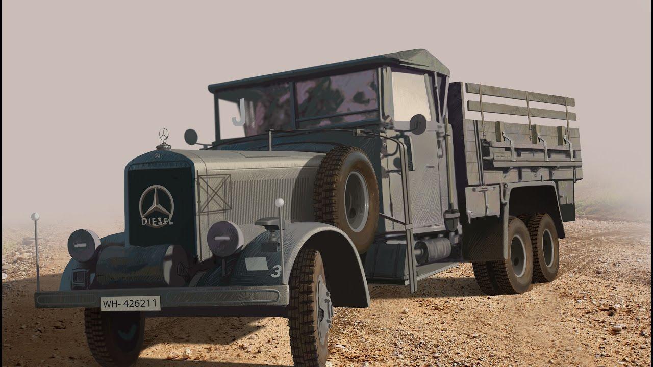 Mercedes benz lg 3000 icm 1 35 for Mercedes benz under 3000