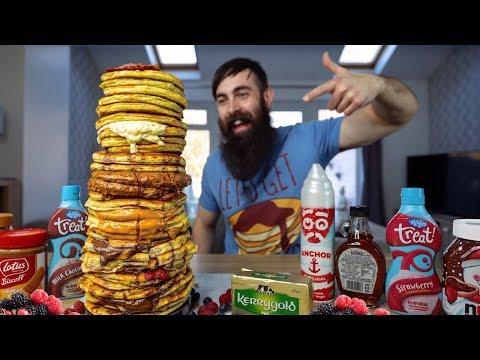 THE ULTIMATE PANCAKE TOWER CHALLENGE | PANCAKE DAY 2019 | BeardMeatsFood