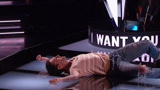 Download Top 10 performance That made coaches Fall Off chairs in The voice Audition 2018 Mp3 and Videos