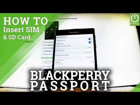 Insert SIM and SD Card in BLACKBERRY Passport - Set Up SIM & SD