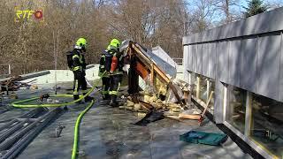 Feuerwehreinsatz - Brand im Dach vom Kindergarten Weilhau