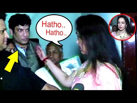 Hema Malini's SHOCKING Insult To Crowd Standing Behind Her During An Interview
