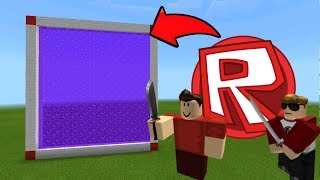 Minecraft Pe How To Make a Portal To The Roblox Dimension - Mcpe Portal To Roblox!!!