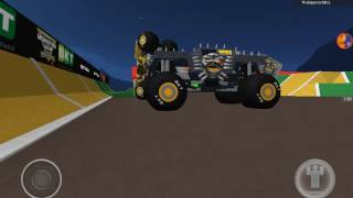 Roblox monster jam, backflip montage.