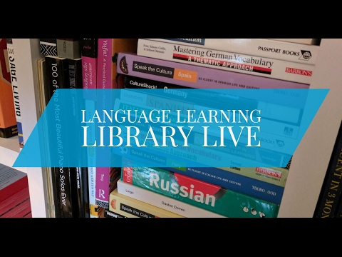 Tour of my Language Learning Library: Books & Courses Live Q&A #2