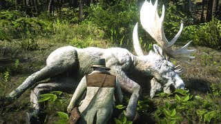 HUNTING THE LEGENDARY MOOSE in Red Dead Redemption 2