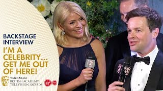 Ant & Dec, Holly Willougby & I'm a Celebrity Crew React Backstage | BAFTA TV Awards 2019