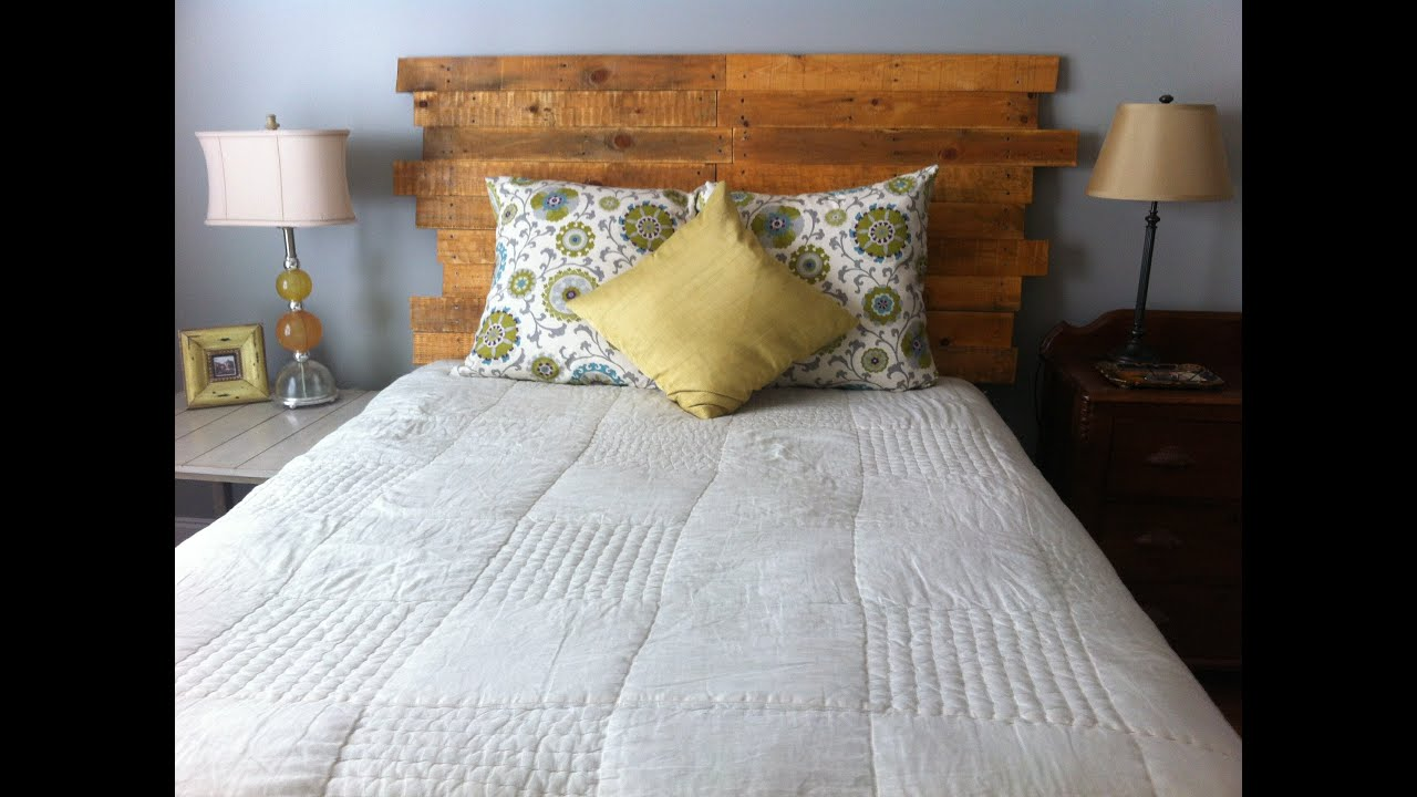 How To Make A Queen Size Headboard From Pallet