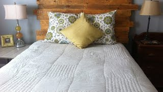 How To Make A Queen Size Headboard From A Pallet