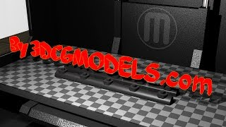 3D Printing Makerbot Replicator 2X Dual Head.  Live Stream  :)