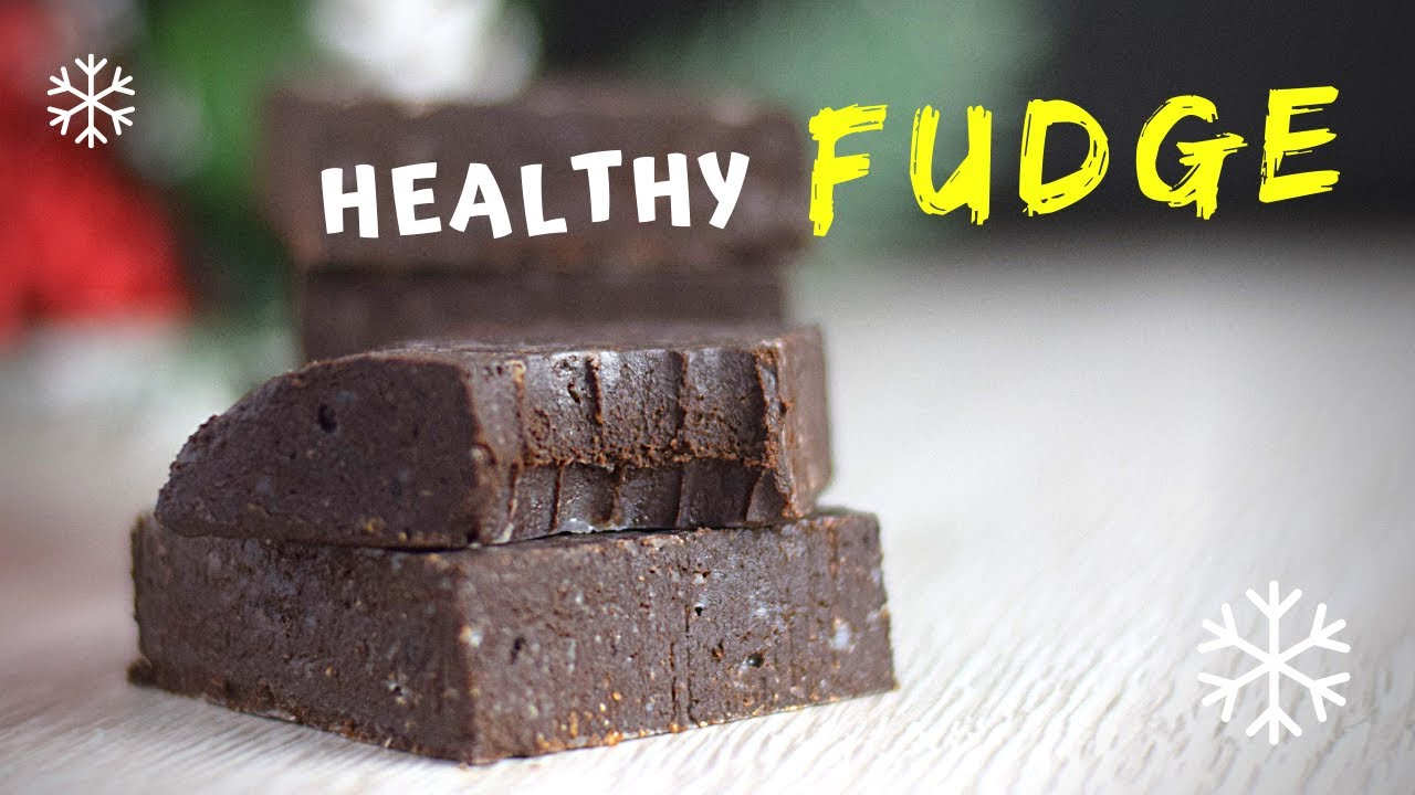 Easy Fudge Recipe (HEALTHY with ONLY 4 INGREDIENTS)