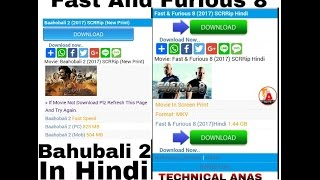 How To Download Fast And Furious 8 And Bahubali 2 In Hindi