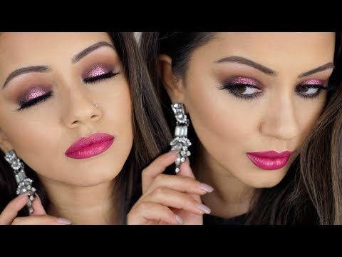 AFFORDABLE GLITTER CHRISTMAS PARTY MAKEUP LOOK ✨AD
