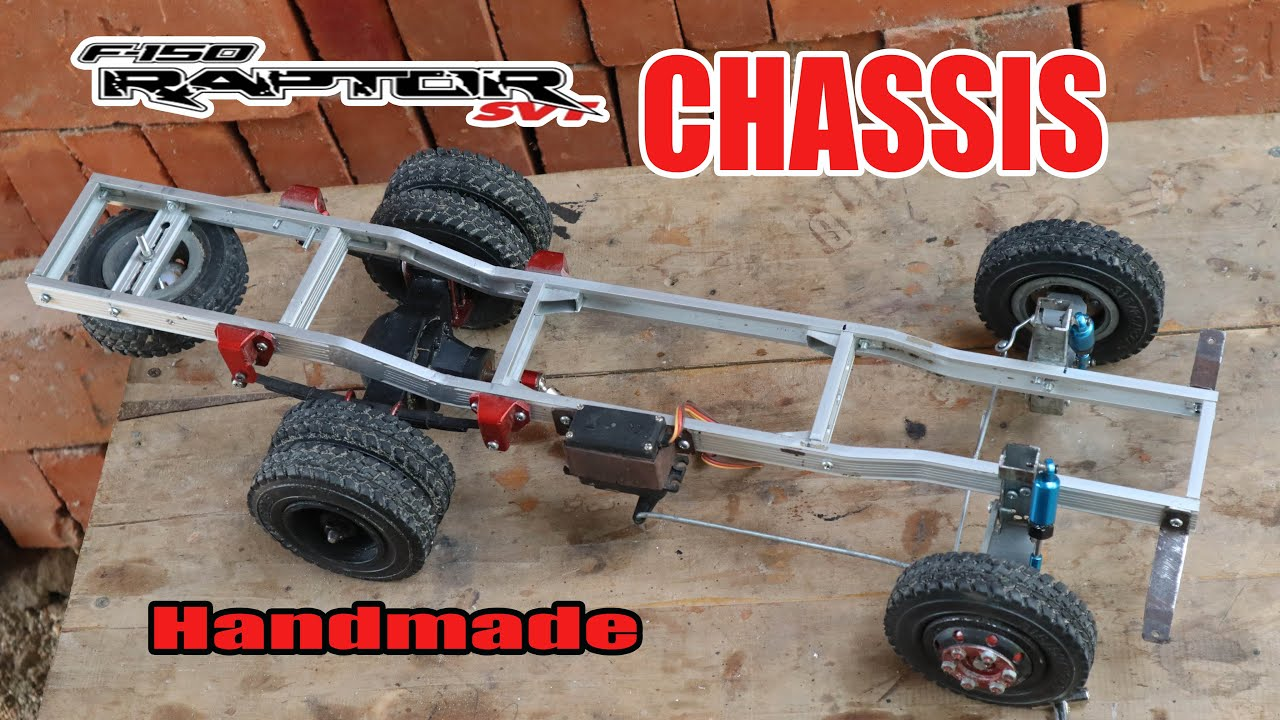 How to make a RC Car Chassis F-150 Raptor from Aluminum.