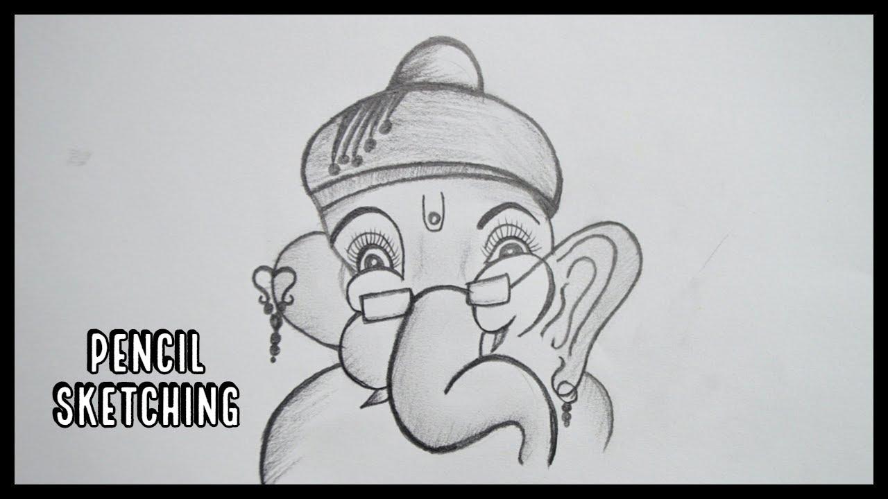 How to draw ganesha ganesh ji pencil drawing pencil sketching pencil art
