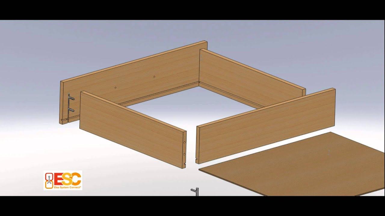 elsa system connect assemblage et montage de tiroirs sans outils youtube. Black Bedroom Furniture Sets. Home Design Ideas