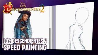 Los Descendientes 2 | SPEED PAINTING - China Anne McClain (Uma)