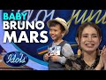 AN ADORABLE BABY BRUNO MARS AUDITIONS FOR INDONESIAN IDOL JUNIOR | Idols Gobal