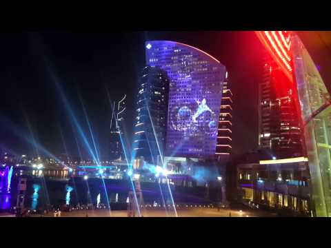Amazing Dubai Festival City Fire, light & sound show